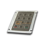 12 keys metal keypad, panel mount numeric keypad