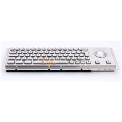 Cherry Keyboard with Trackball for Kiosks, Metal Keyboard with