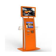 Dual screens free standing multimedia POS payment kiosk