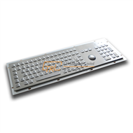 Metal Keyboard with Trackball and Numeric Keypad