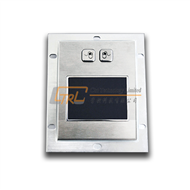 Panel mount touchpad, stainless steel fascia