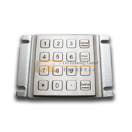 Rear panel mount kiosk keypad, metallic pinpad