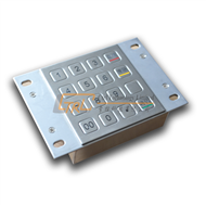 Rugged kiosk keypad, metallic pinpad